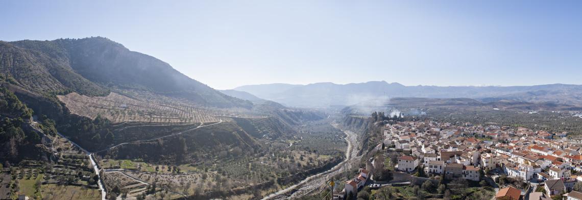 Valle del rio Torrente a su paso por Nigüelas