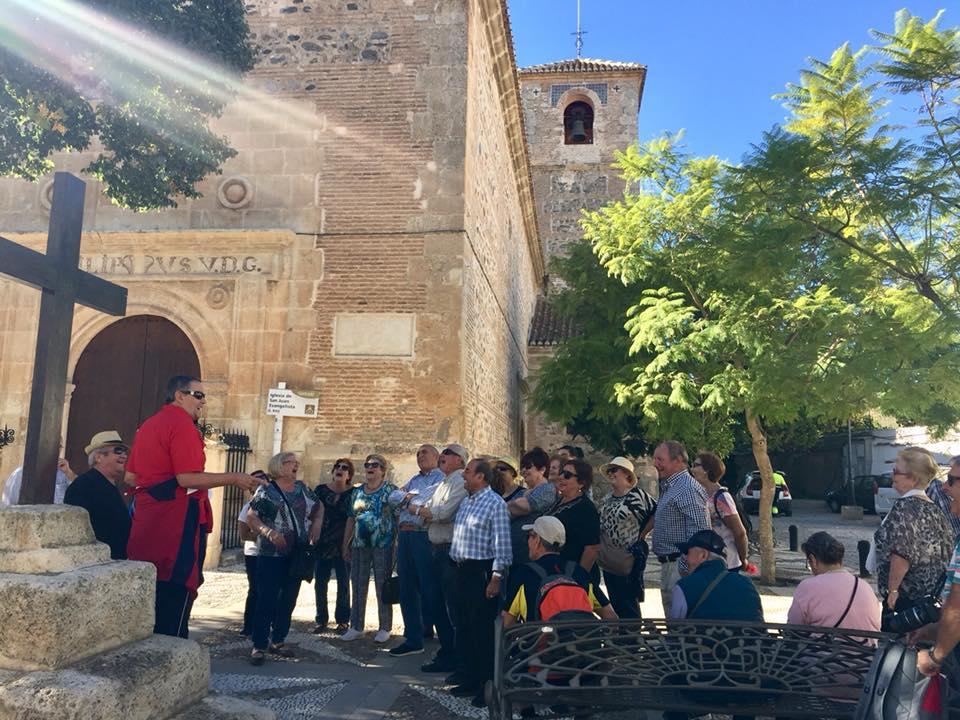 Visitantes del Centro de Participación Activa de Maracena