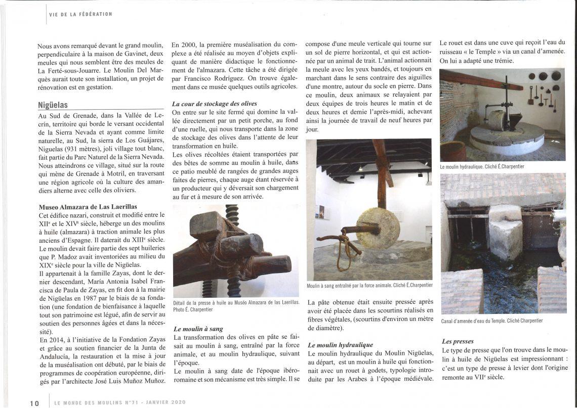 Almazara Laerilla en Le monde des Moulins de Francia